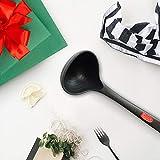 Homease, mestolo in silicone per zuppa, con scala da 80 ml, resistente, non si deforma, può essere utilizzato per i punti non aderenti, regalo per Natale, nessun odore strano, senza BPA.