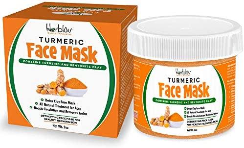 Turmeric Face Mask Skin Brightening Mask with Turmeric and Bentonite Clay All Natural Face Mask product image