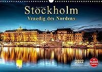 """Stockholm - Venedig des Nordens (Wandkalender 2022 DIN A3 quer): Seinem durch Bruecken und Wasserwege gekennzeichneten Stadtbild verdankt Stockholm die Bezeichnung """"Venedig des Nordens."""" (Geburtstagskalender, 14 Seiten )"""