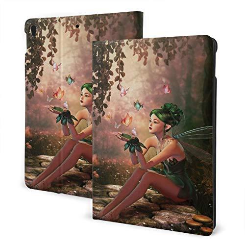 Meisje Met Vleugels En Vlinders Digitale Samenstelling Computer Graphics Elven Creature, Ipad Anti-val Beschermende Cover Patroon DesignIpad Case, 10.5In, 1 kleur