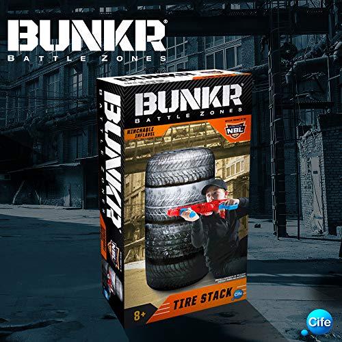 Bunkr- Surtido Buttle Zone Take Cover Tire Stack, Multicolor (Cife Spain 41678)