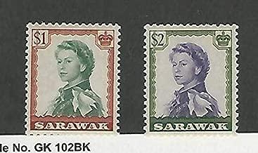 Sarawak, Postage Stamp, 209-210 Mint LH, 1955, JFZ