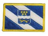 Flaggen Aufnäher Kroatien Gespanschaft Brod-Posavina Fahne Patch + gratis Aufkleber, Flaggenfritze®