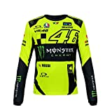 VR46 Valentino Rossi T-Shirt Sponsor pour Homme, Manches Longues pour Homme Monster Energy Moto GP 2018, m
