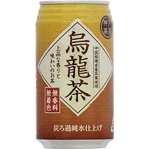 富永貿易 神戸茶房 烏龍茶 缶 340g×24本 [2101]