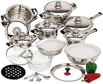 Amazon.com: pureware Juego de vajilla de cocina de acero ...
