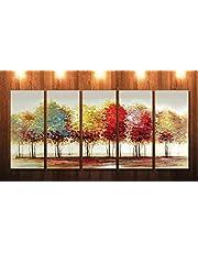 Saf Premium Large 5 Panel Trees Ink PaintingâÂ