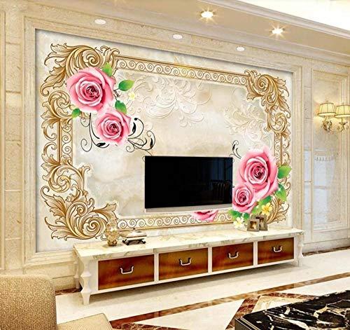 Rose Fototapete 3D 200Cmx140Cm Rosa Blume Textur Tapeten Wandtapete Wand Dekoration Für Wohnzimmer Schlafzimmer