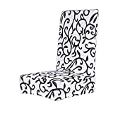 Copertura Custodia protettiva staccabile elasticizzata per sedia sgabello da pranzo bianco
