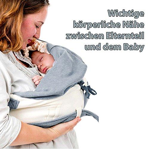 Lodger Shelter 2.0 – 3in1 Babytrage, Babytragetuch, Babysling sowie Transportdecke für Babys und Eltern, ab Geburt bis 18 Monate (max. 12kg), Sicheres Verschlusssystem, Trage-Tuch für Babys und Kinder, Schönes Design, Neu und OVP - 2