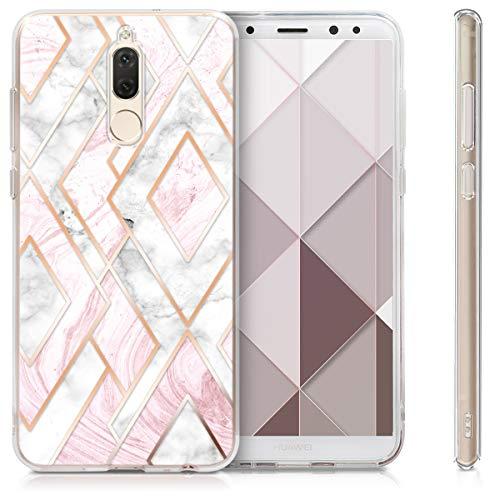 kwmobile Huawei Mate 10 Lite Hülle - Handyhülle für Huawei Mate 10 Lite - Handy Case in Glory Mix Marmor Design Rosegold Weiß Altrosa - 4