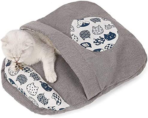 Pet Cat Nest Bed Ultra Soft Warm Cats Ja Louisville-Jefferson County Mall Indoor Bag Sleeping Ranking TOP15 for