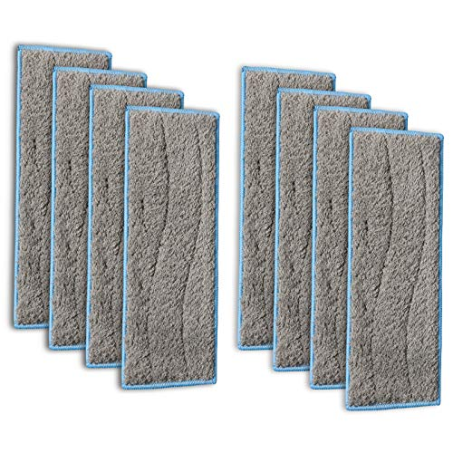 Gazeer 8pcs Braava Jet m6 Washable and Reusable Wet Mopping Pads Compatible Braava Jet m Series, Wet Pads for iRobot Braava Jet M6 (6110)
