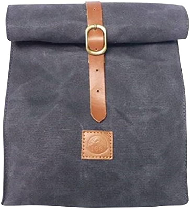 Summit168 Waxed Canvas Lunch Bag Tote Eco Friendly Sustainable Reusable Durable Waterproof