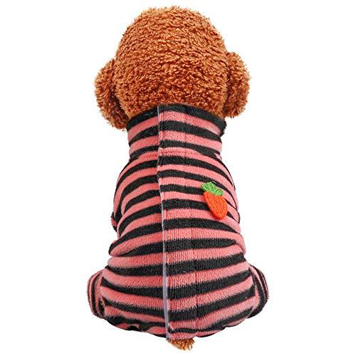 NashaFeiLi Haustierkleidung, Hund Angst Jacke Winter Warm Mantel Welpen Hemd Pyjama für Welpen kleine mittelgroße Hunde (S, Pink)