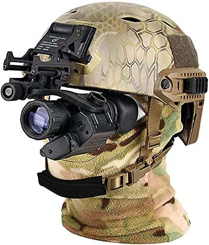 Monocular Night Vision Goggle, Digital Night Vision Goggle IR Night Vision Monocular, PVS-14 for Helmet, Suitable for Night Vision Hunting