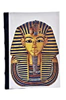 Handmade Planner Diary,Pharaoh Eco-Friendly, Acid-Free Handmade Paper, Flat Open, Hard Bound, Address Book, Genuine Leather Spine, 125 GSM, 176 Pages