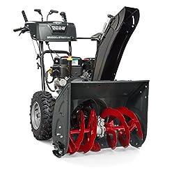 powerful Briggs  Stratton 1024MDS Elite Series 24-inch 2-stage snowplow, 2 steering gears, …