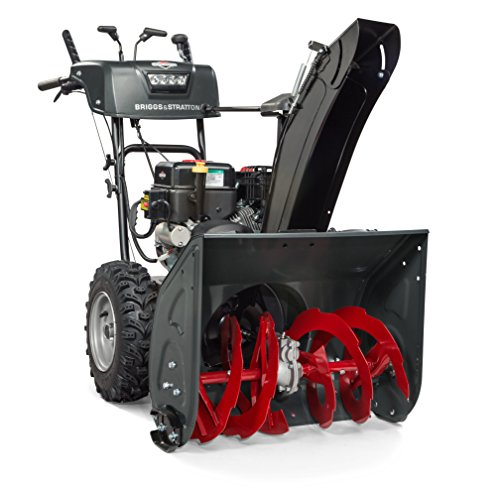 briggs stratton snow blowers Briggs & Stratton 1024MDS Elite Series 24-Inch Dual-Stage Snow Blower with Dual-Trigger Steering, Heated Hand Grips, and Free Hand Control