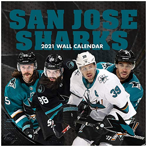 TURNER Sports San Jose Sharks 2021 12X12 Team Wall Calendar (21998011954)