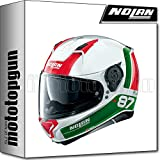 NOLAN CASCO MOTO INTEGRALE N87 PLUS DISTINCTIVE METAL BIANCO 029 TG. M