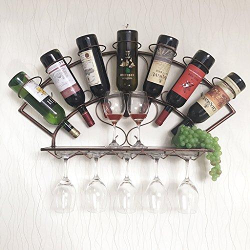 Weinregal Wand hängen Weinregal einfach Moderne Weinregal hängen Weinkühler Glashalter Wand - Weinregal Weinglas Halter (Farbe : Braun)