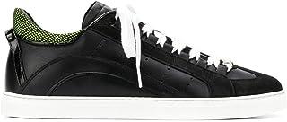 DSQUARED Sneakers in Pelle Nera E Decorazione Gialla Dietro