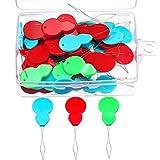 50 Piezas de Enhebrador de Aguja de Plástico en Forma de Calabaza con Caja Transparente, Colores Variados