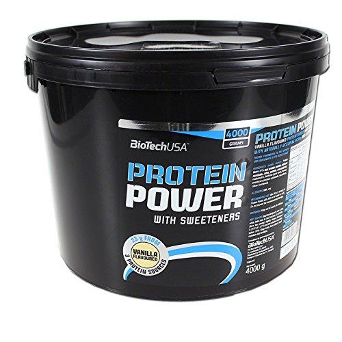 BioTech Protein power Mezcla de Proteínas, Sabor Vainilla - 4000 gr
