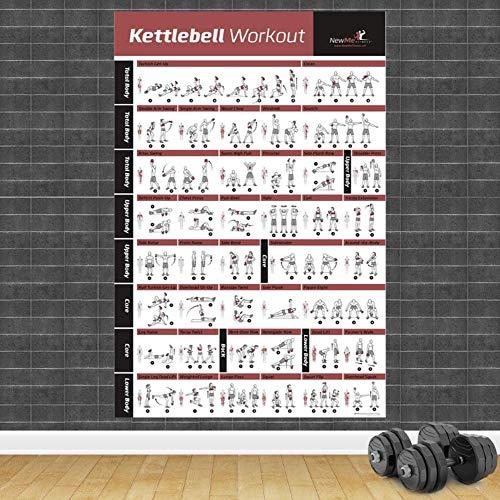 Poster,Bodybuilding Gym Sport Fitness Hantel Poster,Workout Übung Trainingsplan,Kunst Wand Poster Drucken Wohnkultur C 32X40Inch(80X100Cm)