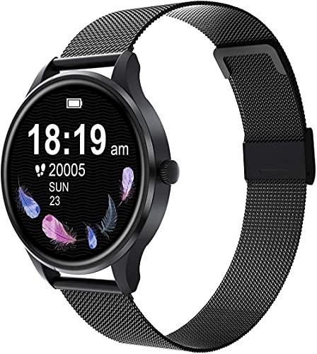 Reloj inteligente compatible Ios hombres y mujeres natación impermeable reloj smartwatch fitness Tracker monitor de ritmo cardíaco digital-negro