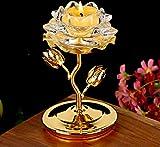 TUPXEF Chinesischen Stil Lotus Ghee Lampenfassung Feng Shui Wohnkultur Kristallglas Block...
