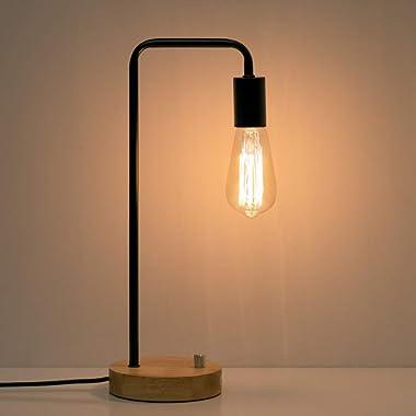 HAITRAL Industrial Desk Lamp, Vintage Edison Bulb Table Lamp for Dorm, Office, Bedroom, Living Room (Without Bulb)