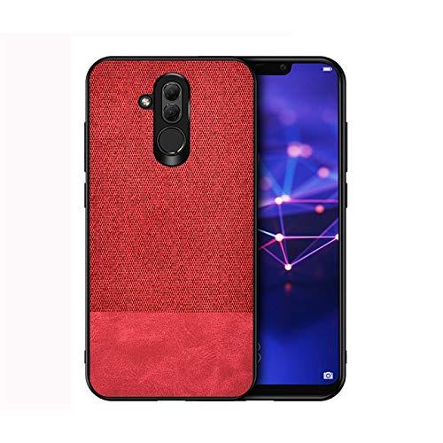 Dmtrab para Para Huawei Mate 20 Lite Case, Estampado a Prueba de Golpes PU + Funda Protectora de Tela (Negro) (Color : Red)