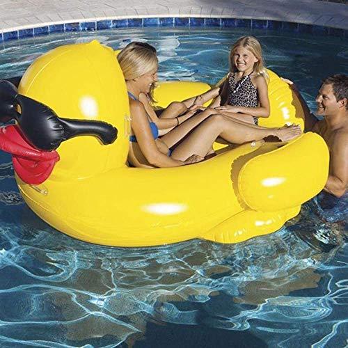 YIQIFEI Adult Inflatable Water Lounge Chair Großer Pool für Erwachsene Yellow Duck Aufblasbare Hängematte Schwimmreihe Schwimmring Suita (Pool)