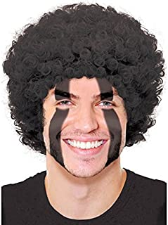 Amscan Curly Party Wig Costume, Black