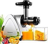Slow Juicer, Homever BPA-frei Entsafter Gemüse und Obst, Profi Juicer Ausgestattet mit Einem Geräuscharmen Motor& Überspannungschutz&Saftkanne & Reinigungsbürste