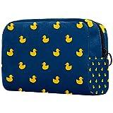 Bolsa para brochas de maquillaje personalizable, bolsa de aseo portátil para mujer, bolso cosmético, organizador de viaje pato