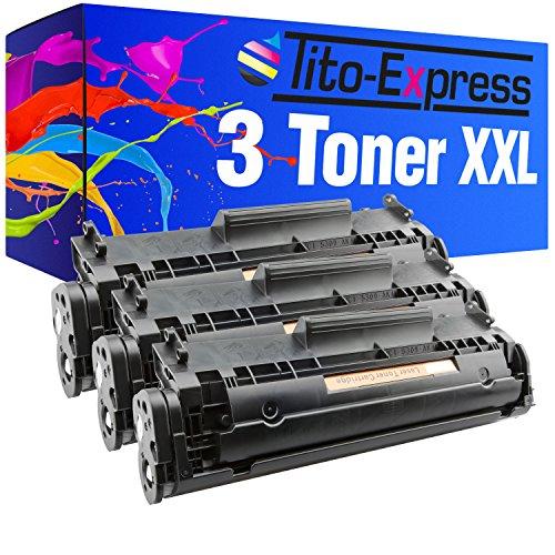 Tito-Express - 3 cartuchos de tóner XL para Canon FX-10 I-Sensys MF4650 MF4340D MF4350D MF4370DN MF4380DN, color negro