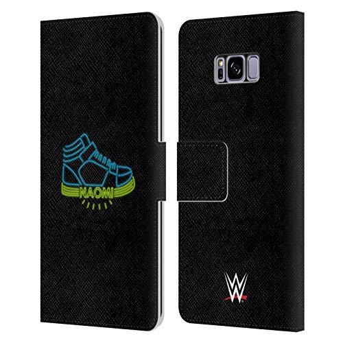 Head Case Designs Oficial WWE Siente el Resplandor 2 Noemí Carcasa de Cuero Tipo Libro Compatible con Samsung Galaxy S8+ / S8 Plus