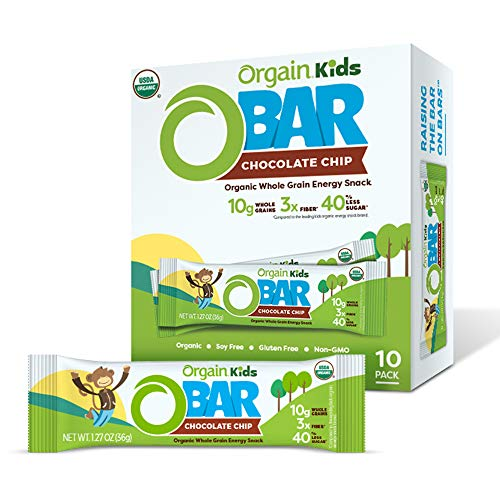 Orgain Organic Kids Energy Bar, Chocolate Chip - Great for...