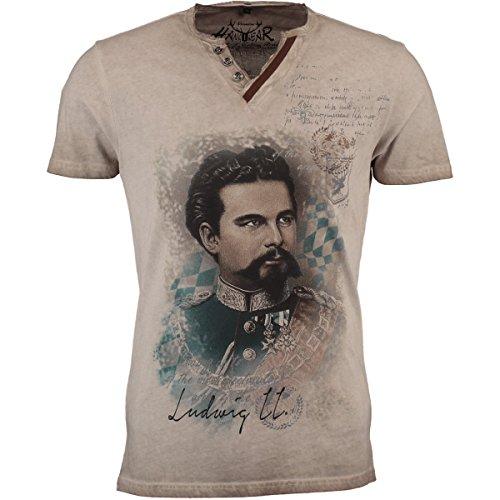 Hangowear Herren Trachten-T-Shirt Almont beige, Gr.XXXL Herren