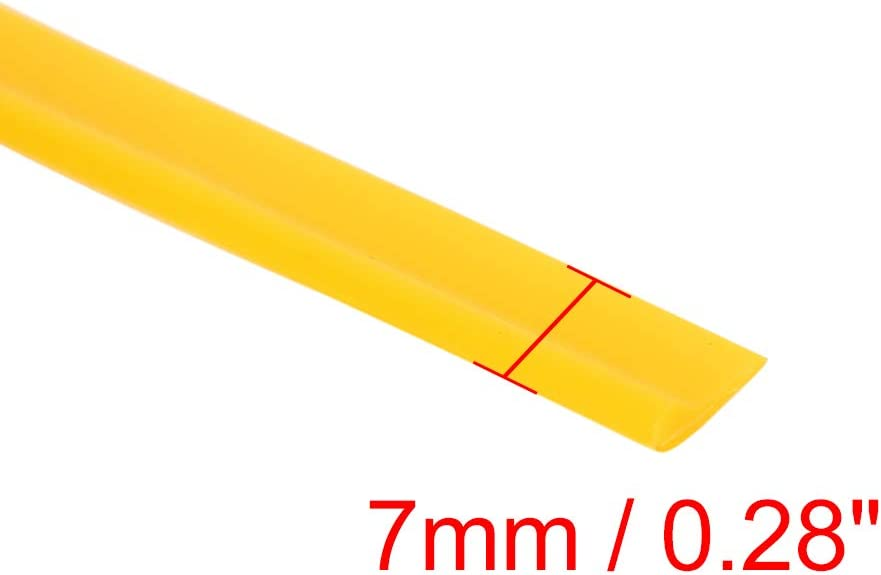 X AUTOHAUX 5m Yellow DIY Decorative Line Car Interior Gap Door Edge Moulding Trim Strip