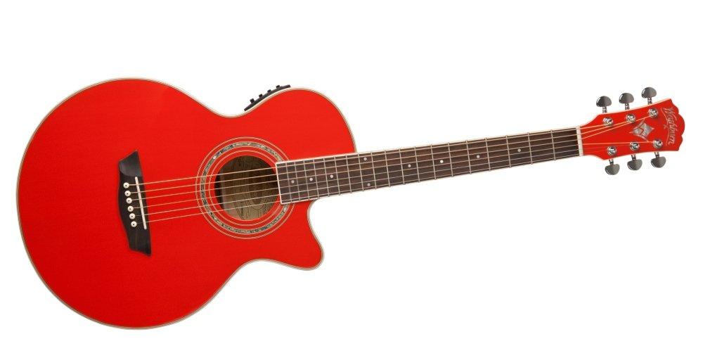 Washburn EA10R Guitarra Electroacústica - rojo: Amazon.es ...