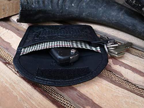 Lederen AntiSkim Etui - Autosleutel RFID - Beschermhoes voor autosleutel - Sleutel Etui – Anti Hack Etui – Keyless Go – Keyless Entry – Anti diefstal beschermhoes – 100% Veilig & Gekeurd