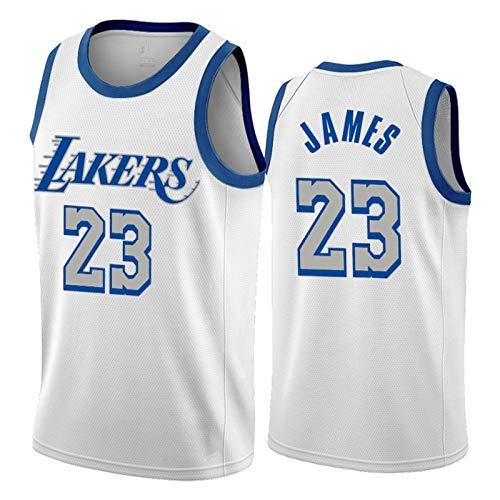 Lebron James 2021 edición de la Ciudad de Jersey, Blanco de Los Angeles Lakers # 23 Jerseys del Baloncesto Unisex Alero Camiseta sin Mangas Recuerdos (S-XXL) M