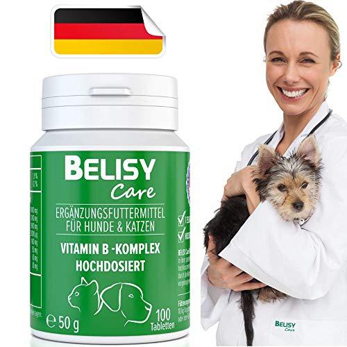 BELISY >Vitamin B Komplex< für Hunde & Katzen - 100 Tabletten - Mit 7 B-Vitaminen, Vitamin K & Calcium - Hochdosiert - Ideal für alle Rassen - Ohne Getreide & Milcherzeugnisse
