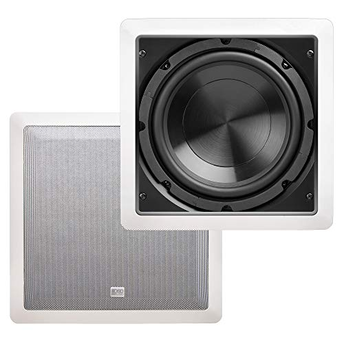 """OSD Audio 150W in-Wall Subwoofer Speaker– 8"""" Passive Sound System – IWS8"""