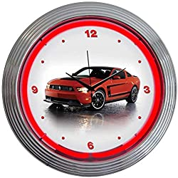 Neonetics Ford Mustang Boss 302 Neon Wall Clock, 15-Inch