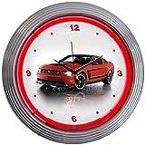Neonetics Ford Mustang Boss 302 Neon Wall Clock, 15-Inch